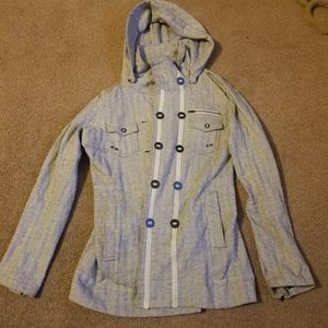 Hurley Pea Coat with Removable Hood